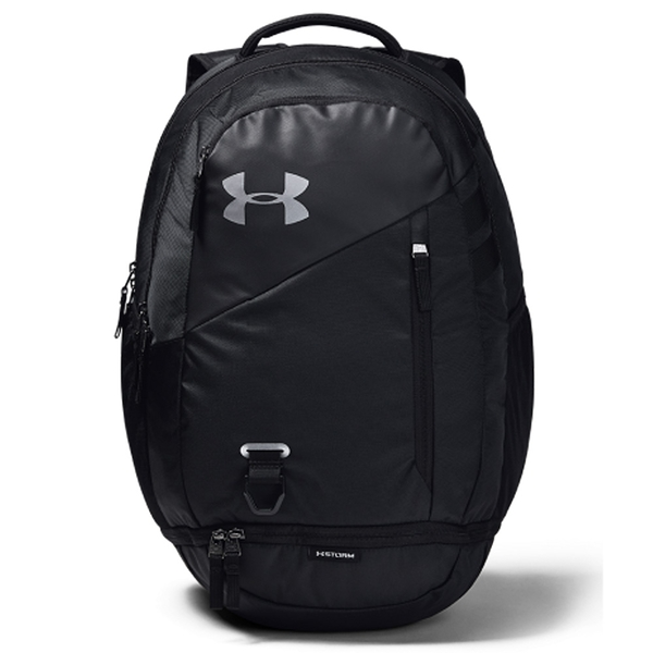 UNDER Hustle 4.0 後背包 雙肩 電腦隔層 前置防潑水 底部有口袋 水壺袋 黑【運動世界】1342651-001