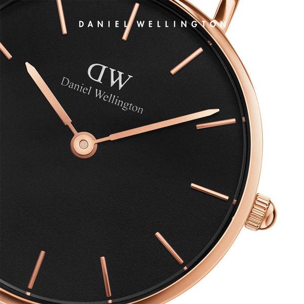 DW 手錶 官方旗艦店 28mm玫瑰金框 Classic Petite 香檳金米蘭金屬編織 - Daniel Wellington