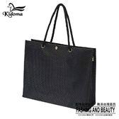 手提袋-編織袋(L)-黑-01C