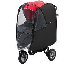 *babygo*愛普力卡Aprica SMOOOVE 大三輪嬰幼兒手推車專用雨罩【 BK不敗黑#99955】
