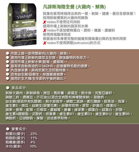 ◆MIX米克斯◆凡諦斯.海陸全餐 (火雞肉、鯡魚) 20磅,不使用任何肉粉,嚴選最佳食材.狗飼料