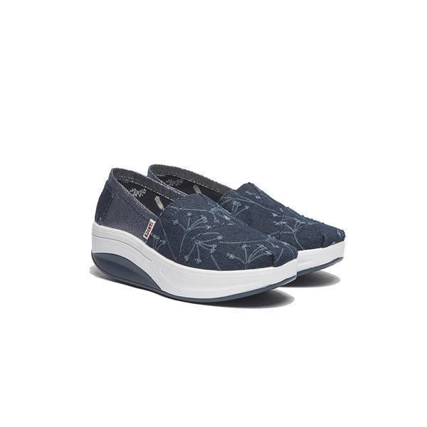 JANICE-刷破牛仔布面休閒鞋352029-07藍
