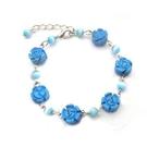藍松石小玫瑰花手鍊