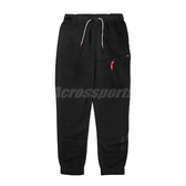 Nike 長褲 Kyrie Fleece Basketball Pants 黑 紅 男款 籃球 棉褲 運動休閒 【PUMP306】 BV9289-010