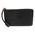 【COACH】經典大馬車 LOGO大手拿零錢包(黑)