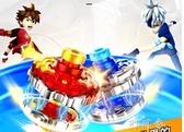 超變戰陀玩具聖焰紅龍全套裝奧迪戰斗王兒童3拉線合體陀螺4男孩5交換禮物