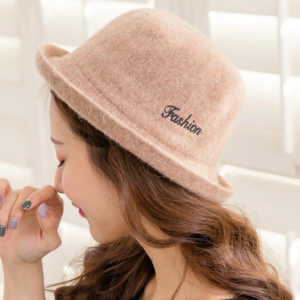 韓版復古百搭羊毛盆帽(4色)