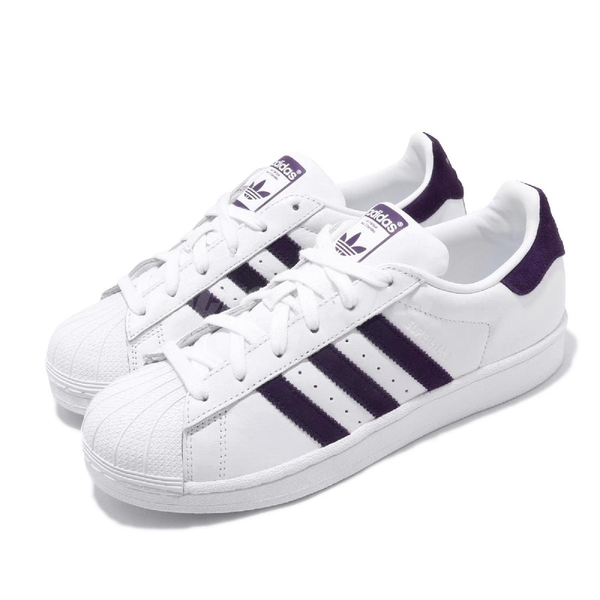 adidas 休閒鞋 Superstar 白 紫 男鞋 女鞋 運動鞋 基本款 【PUMP306】 EF9241