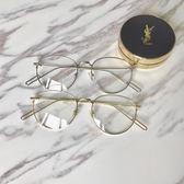 Miinwoo韓國復古金屬眼鏡框超輕素顏平光圓臉男女鏡架☌zakka