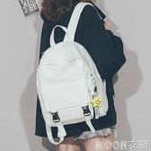 ins風高中大學生韓版校園少女書包2021新款軟皮雙肩包森繫背包潮 現貨快出
