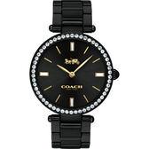 Coach 紐約 晶鑽時尚精品手錶-黑/34mm CO14503421