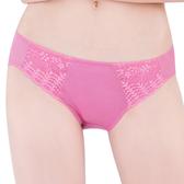 思薇爾-花語系列M-XL蕾絲低腰三角內褲(春蘭粉)