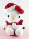 【震撼精品百貨】Hello Kitty 凱蒂貓~聖誕絨毛擺飾-kitty圖案-坐拿鈴鐺