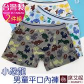 棉質兒童內褲平口 小恐龍男童 (二入組) 台灣製造 No.1206-席艾妮SHIANEY