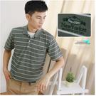 【大盤大】(P02873) 男 口袋上衣 特價M號 短袖POLO衫 台灣製 條紋棉T 休閒衫 立領 繡花 父親節