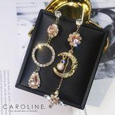 《Caroline》★韓國熱賣造型時尚復古巴洛克月亮浪漫風格耳環70090