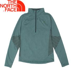 【The North Face 男款  半襟針織上衣《墨綠》】2V59WVT/長袖T恤/保暖上衣/長袖★滿額送