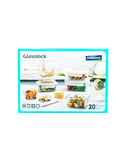 【Glasslock】無邊框系列玻璃保鮮盒 含蓋共20件