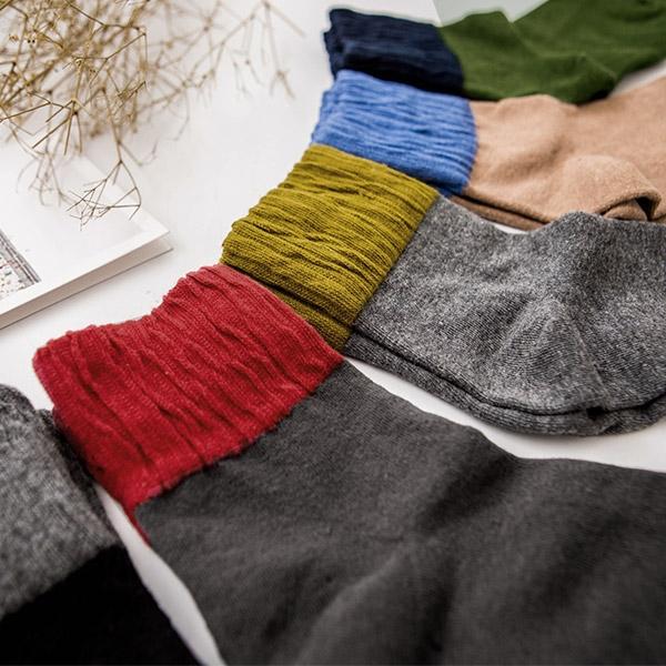 MIUSTAR 秋冬配色皺皺針織棉襪(共5色)【NF4771GW】預購