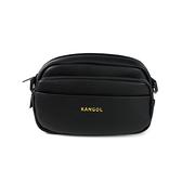 KANGOL 側背包 方包 黑色 夾層 6025300420 noA48