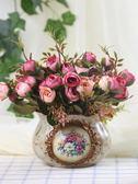 天天新品歐美式絹插花塑料假花藝套裝干花客廳餐桌茶幾裝飾品擺設擺件仿真