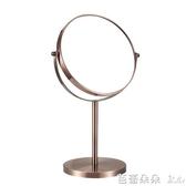 巧妝鏡 漢九宮歐式高清台式化妝鏡 鏡子梳妝鏡公主鏡美容鏡 帶放大 大號『快速出貨』