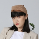 【ISW】細針針織貝雷帽- 棕色 (兩色可選) 造型帽
