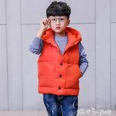 馬甲 童裝男童馬甲冬季韓版中大兒童春秋加厚背心外套外穿  潔思米