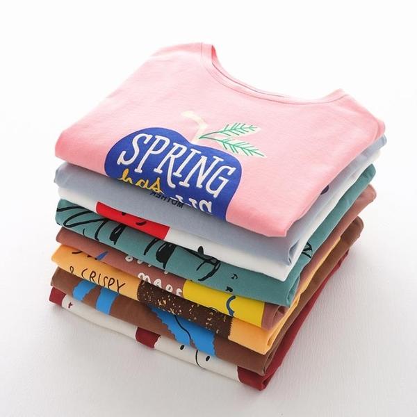 女童打底衫 女童短袖T恤兒童夏裝2019新款女棉質打底衫中小童洋氣短袖潮【快速出貨】