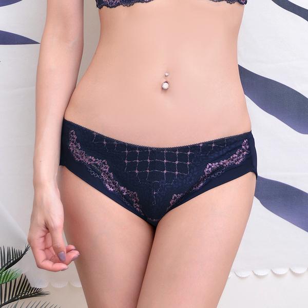 配褲→→→Amorous私密內衣 「紫胭之戀」蕾絲網紗包覆型軟鋼圈內衣
