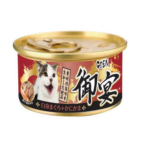 【寵物王國】御宴湯罐(白身鮪魚+蟹味棒)80g
