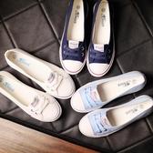 淺口春夏帆布鞋女正韓休閒套腳鞋學生平底布鞋單鞋小白鞋