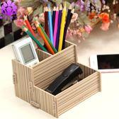 (交換禮物 創意)聖誕-木質筆筒多功能木制筆筒創意辦公組合筆筒桌面筆筒
