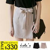 LULUS-Y-前片式側綁帶內襯褲裙S-L-2色  現+預【04070209】