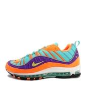 Nike Air Max 98 QS [924462-800] 男鞋 運動 休閒 橘 紫