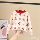 熱賣兒童毛衣 女童毛衣2021新款兒童洋氣套頭針織衫寶寶加絨加厚款秋冬裝打底衫【618 狂歡】