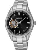 SEIKO 精工 Presage 4R38 開心系列機械手錶-黑x銀/34mm 4R38-00R0D(SSA869J1)