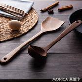 鍋鏟 家用木鏟鍋鏟木勺不粘鍋專用長柄炒菜鏟子廚房雞翅木頭鏟無漆 莫妮卡小屋