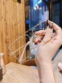 眼鏡框2020新款個性方形雙梁平光鏡ins網紅款時尚眼鏡框女可配眼睛 熱賣 suger