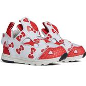 CLASSICK- Reebok HELLO KITTY VERSA PUMP FURY 童鞋 小童 聯名款 充氣 經典 白 紅 EH3059