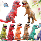 Cosplay服裝充氣道具服 瘋狂侏羅紀暴龍充氣服霸王龍恐龍表演衣服xw