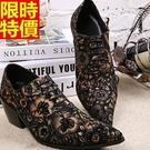 尖頭鞋真皮皮鞋風靡時尚-時尚雕花繫帶英倫高跟男鞋子65ai11【巴黎精品】