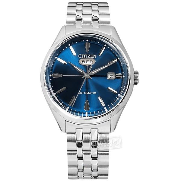 CITIZEN 星辰表 / NH8390-71L / 經典復刻 C7 機械錶 自動上鍊 不鏽鋼手錶 藍色 40mm