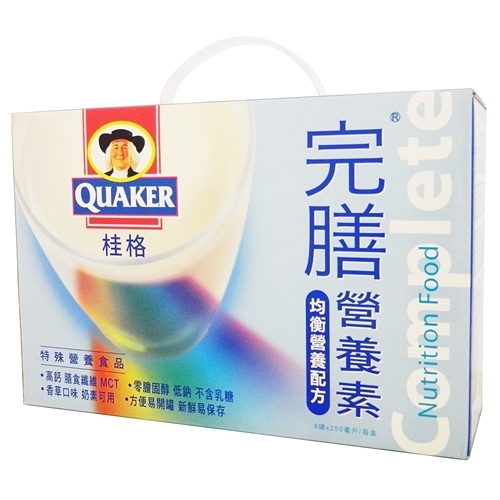 桂格完膳營養素250ml*8入-香草禮盒(素)【合康連鎖藥局】
