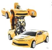 遙控車變形玩具金剛大黃蜂機器人兒童充電遙控汽車賽車男孩3-6歲4-5LX 萬客居