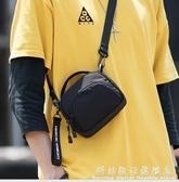 男士單肩側背包潮牌休閒胸前掛包隨身蹦迪小背包迷你手機包包 科炫數位