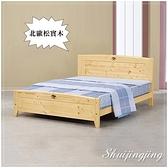 【水晶晶家具/傢俱首選】HT1579-2 歐姆龍5呎北歐實木﹝四分床板﹞可調高低式雙人床
