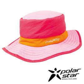 PolarStar 防潑水圓盤帽 『粉紅』P15601 遮陽帽 保暖帽 柔軟 舒適 可壓縮 戶外 休閒 旅遊