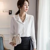 職業白襯衫雪紡襯衣女設計感小眾2020春款新款寬鬆垂感長袖洋氣新品上新
