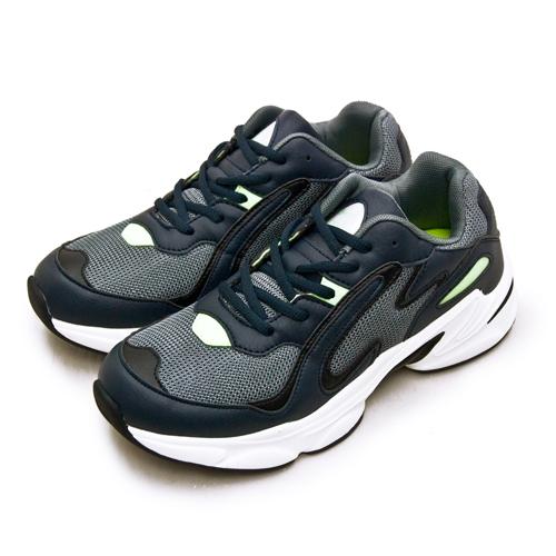 LIKA夢 ARNOR 輕量時尚緩震厚底慢跑鞋 GOGORUN系列 灰藍黑 03185 男